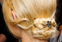 Updos and knots / Get your hair in a twist.  #messybun #fauxhawk #hairknot #undone #updo #bun