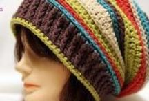 Crochet - hats - adults /  $ for pattern, or just inspiration in texture, colors and styles. Enjoy! / by Wenona Rigali