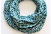 Crochet - scarves, cowls and shawls / To make, to purchase (pattern or finished), to inspire / by Wenona Rigali