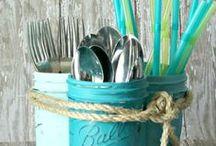 "MASON JAR Crafts / by Linda ""MiMi"" Dixon"