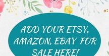 Add Your Etsy, Amazon, Ebay Items For Sale Here! / One stop shopping for all occasions! Home, Nursery, Beach, Rustic, Wood Signs, Nautical, Decor, Holiday