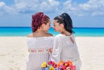 LGBT Wedding / Amazing photos from a LGBT wedding at SANDOS PLAYACAR #RomanzaWedding #Romanza