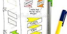 DIY i rękodzieło / Na tej tablicy znajdują się piny o różnej tematyce, ale większość z nich to literki, wzorki i pomysły do planera.
