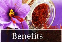 Benefits of Saffron / Information and tips about Saffrons Golden Health benefits!   Saffrons numerous health benefits make it one of nature's most powerful herbs including inhibiting skin tumors. improving arthritis & improving eye & vision health.