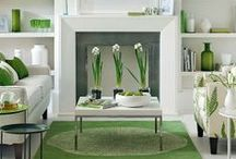 Spring Colours / After a long grey winter, it's finally time to open the curtains and breathe in the fresh air. From pale mints and vibrant limes to seductive teal, green is the big colour palette this season and we're welcoming it into our homes.