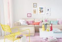 Mixing Colours / Whether they complement or clash, make sure to mix your accent colours for maximum impact.