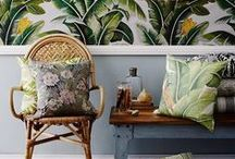 Into the Tropics / This theme perfectly captures the best elements of the summer season with an explosion of zesty brights and wonderful prints inspired by the tropics – think palms, pineapples and colourful exotic birds. Whether you're going all out with a full blown tropical paradise or aiming for a subtle hint of a holiday vibe, this interior scheme is an instant mood lifter for your living space.