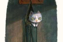 Ilustraciones gatos