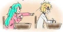 Miku x Len <3 / Miku and Len are juste so cute ♡