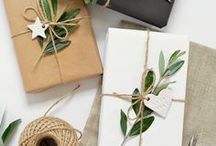 Pretty Packages / Gift wrap and printable gift tags.  Packaging ideas, packaging inspiration, gift wrap ideas, gift wrap inspiration, simple gift wrap, modern gift wrap, minimalist gift wrap, cute gift wrap, cute gift wrap ideas