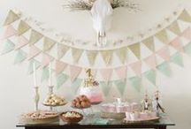 Party Inspiration / Ideas for entertaining, parties, baby showers, bridal showers, Inspiration for parties, party ideas, party inspiration, party decorations, table setting, backdrop ideas