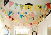 Bunting Garlands Banners & Streamers / I love the way they flutter in the breeze!  They can be casual, romantic, fun or elegant!  Just my sort of fun! / by Shirani Williams