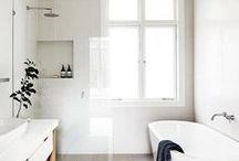 Home Decor-Bathroom / Ideas and inspiration for the Bathroom, minimal bathroom, white bathroom, clean bathroom design, modern bathroom, Scandinavian, small bathroom, bath, bathroom ideas, bathroom inspiration