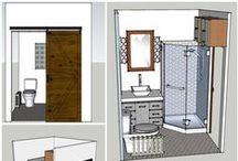 bathroom remodel / $5000 total for DIY:  $850 materials & misc, $1200 fixtures, $2300 shower & toilet & vanity; $650 radiator