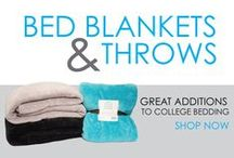 Bed Blankets & Throws / Twin XL Bed Blankets and College Dorm Room Throws make great additions to college bedding. Comfy bedding for college requires dorm room accessories, so go ahead - add some blankets for college to your dorm room shopping list! DormCo offers a variety of colors and styles so you have the comfort you want.