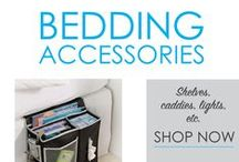 Bedding Accessories / Here you will find all the little dorm necessities that will make a huge difference to your dorm bedding. Looking for dorm bed risers so you can have extra dorm underbed storage? You will find them here and you will also find you have a selection of colors and heights to choose from! In this section you will also find some dorm lamps that can clip onto your dorm nightstand or on your college textbook so you can read and study in bed.