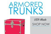 Armored Trunks / Dorm room storage is lacking in your college dorm room at first. However, with great dorm organizers added to your college dorm checklist, your college dorm room will be more organized and you'll have more dorm storage. A dorm essential for college is a dorm trunk to hold your seasonal clothes, extra Twin XL sheets and other dorm necessities.