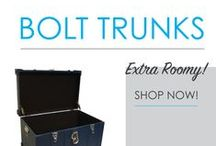 Bolt Trunks / Here you will find DormCo's selection of Bolt Trunks. As their name says, they are extra roomy! The best college supplies for dorm storage solutions are compact yet provide plenty of dorm room storage. These storage trunks strike a perfect balance between the roominess you need for additional college dorm storage while not taking up too much floor space.