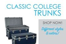 Classic College Trunks / Here you will find a variety of Classic College Trunks that are USA Made. DormCo has a variety of classic storage trunks in this section - you are sure to find something you love! From our classic collegiate footlocker with silver highlights that add to your dorm room decor to our dorm underbed storage trunk and college cork trunk, you are sure to find a dorm storage solution that will add plenty of value to your college dorm room.