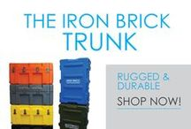 The Iron Brick Trunk / Durable. Rugged. Tough. Herculean Strength. That's what you will get with DormCo's Iron Brick Trunk - Most Durable Footlocker! It's called our most durable college footlocker for a reason! This college trunk will withstand four years of heavy duty college use and beyond! In a variety of colors, you can choose what looks best for your dorm room decor.