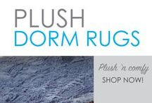 Plush Rugs / Here you will find DormCo's softest and most comfortable college dorm room rugs! Choose a plush dorm rug for college decor or as a comfortable dorm seating spot. Rugs for college are dorm essentials that will make that cold, hard dorm room floor more comfortable and warm. How much happier will you be when you wake up and step on our incredibly cozy College Plush Rug instead of cold dorm linoleum!