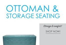 Ottoman & Storage Seating / For some unique dorm furniture items, check out our Ottoman and Storage Seating. These dorm room seating supplies will provide needed dorm room seating for college dorms, and can also help your dorm organization. Provide extra dorm chairs for you and your friends to relax in and also provide plenty of hidden dorm room storage!
