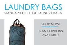 Laundry Bags - Standard College Laundry Bags / In this section you will find DormCo's great selection of standard laundry bags for college and dorm laundry duffel bags. Dorm laundry bags are a great option for hauling laundry to and from your dorm laundry room, and you can even use them to pack your clothes and other dorm essentials in while moving! Our Standard Dorm Laundry Bags come in solid colors and a variety of styles.