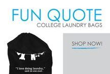 Fun Quote College Laundry Bags / Here you will find the most fun dorm laundry bags ever! That's right, we said 'fun' and 'dorm laundry bag' in the same sentence. Who knew it would be possible to have a fun laundry bag for college! With DormCo it is possible! Here you will find fun dorm laundry bags with hilarious quotes as well as our DormCo exclusive fun quote dorm laundry bags. And have you been wondering how to do laundry but were too afraid to ask?