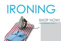 Ironing / College supplies for ironing are a necessary part of any dorm room shopping list. Dorm ironing boards are required for ironing in college. Keep your clothes looking their best with DormCo's variety of ironing dorm accessories! From ironing blankets and dorm ironing boards to wrinkle removing spray and of course irons, you will find all the ironing accessories you need for college!