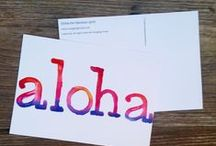 Hawaiian themed greeting cards & postcards / These exclusive illustrated cards are images seen in our new cookbook