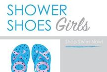 Shower Shoes - Girls / Girls, don't go to college without a pair of shower sandals in your car or dorm suitcase! Girl's shower shoes for college are dorm essentials. You'll need cheap shower flip flops to protect your feet from that communal shower floor. Since they're cheap dorm supplies, grab an extra pair of shower flip flops! This handy college supply will protect your feet in the dorm shower and even at the college pool, dorm gym or beach!