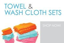 Towel & Wash Cloth Sets / You can't head to college without a set of dorm bath towels and college washcloths. Dorm towel sets help you stay clean, and they're dorm essential college supplies. However, you don't want just the bare dorm necessities to get you by. Dorm towels and college washcloths are dorm essentials that you need plenty of.