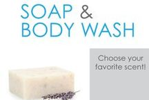 Soap & Body Wash / Our Soap And Body Wash are college dorm essentials for washing up and keeping clean in college! You definitely can't head to college without these dorm necessities, so add some extra bar soaps and body washes to your dorm essentials that you are taking to college.