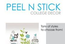 Peel N Stick - College Decor / Here you will find DormCo's huge selection of Peel N Stick dorm wall art. Peel N Stick dorm room decorations are ideal for college dorm rooms because they are reusable and don't damage your dorm room walls. Here you will find plenty of dorm room decorating ideas to turn your dorm room into a home away from home.