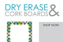 Dry Erase & Cork Boards / Here you will find DormCo's variety of dorm essential study accessories. You won't be able to go to college without a dorm dry erase board or college corkboard. They're pretty much college supply staples that no college student goes to college without. Make shopping lists on your dorm dry erase boards, leave messages to your roommate, or use them as a place to brainstorm when working on your college homework.