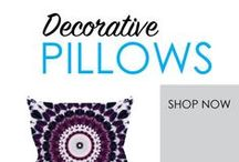 Decorative Pillows / Your dorm bedding is about more than your XL Twin College Comforter and dorm sheets. Your Twin XL Dorm Bedding is also about your college pillows! Of course you need a basic dorm pillow to sleep on every night,, but Decorative dorm pillows make your dorm room feel a little more like home. Decorative Pillows are great dorm accessories to add to your college bedding.