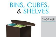 Bins, Cubes, & Shelves / Here you will find plenty of dorm storage solutions to add to your dorm room decor and make college living better. From storage bins to Behind the door dorm room storage and dorm bookshelves, you will find everything you need to make your dorm room feel like a home away from home. Your dorm desk doesn't have upper shelves? Look no further than our College Cube, Classic Dorm Desk Bookshelf, or The Tower College Desk Textbook Shelf!