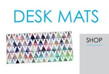 Desk Mats / In this section you will find DormCo's great selection of Dorm Desk Mats. Desk Mats are a dorm essential for your dorm desk. You can cover up some of those scratches from previous college students that have used your dorm desk and you can also add to your dorm room decor while you're at it!