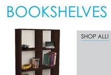 Bookshelves / You're going to need extra dorm storage for your dorm room in order to turn it into an effective place to study. College textbooks are bulky college supplies that you may have no idea where to put, especially if you had to buy the college book but won't be using it until later in the semester. Keep your college textbooks and other dorm essentials organized with a dorm bookshelf!