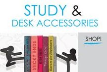 Study & Desk Accessories / Here you will find DormCo's selection of dorm essential college study accessories. These dorm study aids will make college living and studying easier. Study supplies for college students are more than just dorm accessories. These college dorm supplies will help you study better in college, which is important.