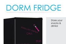Dorm Fridge / College dorm mini-fridges are a basic dorm necessity you won't want to be without. DormCo offers a variety of dorm mini-fridges with freezers so you can make your dorm room feel a little more like home. When you get takeout or bring leftovers from home, you don't want them to go to waste because you don't have anywhere to store them. Keep your leftovers and save money on meals in college by having a dorm mini-fridge in your room!