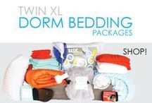 Twin XL Dorm Bedding Packages / This is one of the most important dorm packages you can get. Every student doing their dorm shopping in preparation for college should consider a Twin XL Dorm Bedding Package. Our college bedding packages come with all kinds of dorm stuff to make your college dorm bed comfortable.