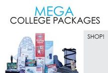 MEGA College Packages / Here you will find Our Mega College Packages that go a little above a basic dorm kit. DormCo created these college packages to save you money and include everything you need for dorm life. Make your dorm room shopping easy and get all your dorm essentials at once!