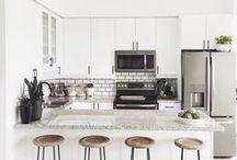 Home Decor-Kitchen / Home decor, kitchen inspiration, decorate, decorating, chic kitchens, IKEA kitchen, kitchen decor, DIY, interior design, kitchen DIY ideas, scandinavian, modern kitchen, minimal kitchen, white kitchen