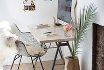 Home Decor-Office / Inspiration for home office, white office, IKEA, clean office, work space, organization, Scandinavian office room, minimal home decor, office ideas, office inspiration