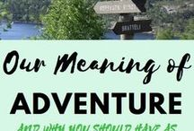 Adventure:  THINGS WE LOVE / We love adventures of any size.  Trip out of town or a camping spot around the corner.  Looking for your next adventure?  We hope to help you!  #travel #traveltips #explorenewthings