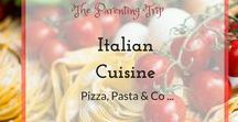 Italian Cuisine / All roads lead to Rome goes the saying, so it might be true for the culinary pathways as well. We love Italian food and this Board had all that we need to make Italian dishes healthy and delicious: pizza, pasta, & co. ..old classics and new twists - we got you covered.