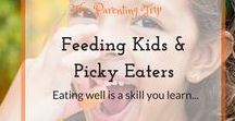 Feeding Kids & Picky Eaters / Pins are helping to achieve healthy nutrition and tasty dishes for picky eaters and children, with lots of vegetables, fruits, vitamins but also strategies to overcome power struggle or fight about food in general