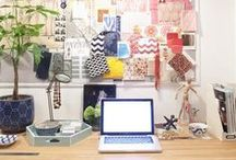 Blissfully balanced worklife / Creative office and work spaces. Plus tips to keep them a dream place to be.