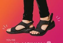 2017 Spring Summer Shoe Styles! / Find Your New Go To Summer Shoe. Athletic Sneakers, Casual Shoes, Arch Support Sandals, & Boots. All with Therafit's Patented Comfort System in the heel.